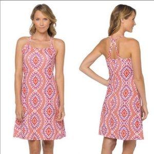PrAna Quinn Dress Gardenia Print Size M